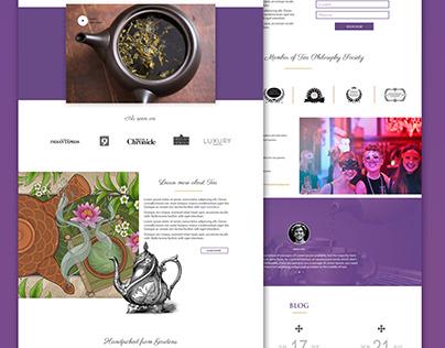 The Tea Philosophy - Web Design