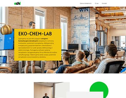 Projekt strony eko-chem-lab.pl
