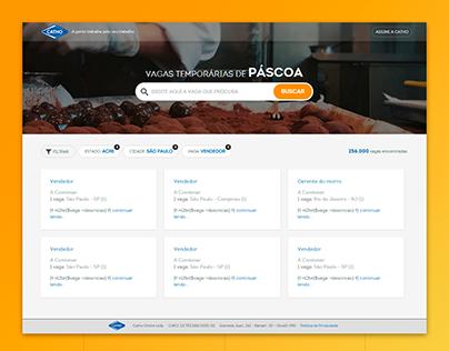 Landing page de empregos temporários de páscoa