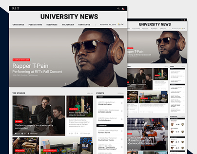 RIT News Reskin | Web Design
