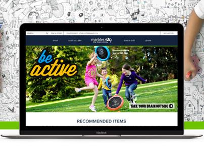 Marbles e-commerce Website UX