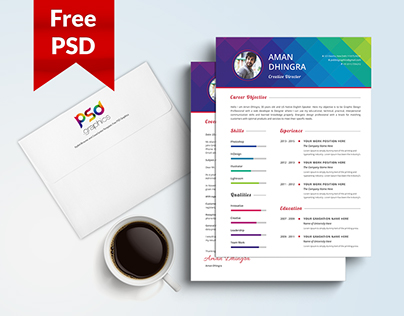 Freebie: Resume & Cover Letter Template Free PSD