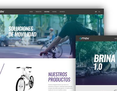 Diseño Visual Web | Emov Electric Bikes