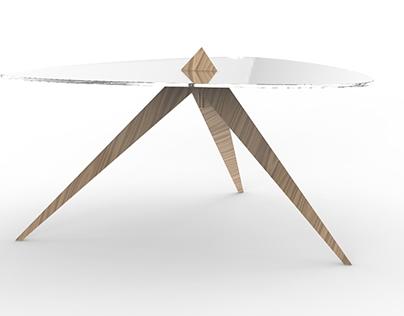 Table pyramidal basse