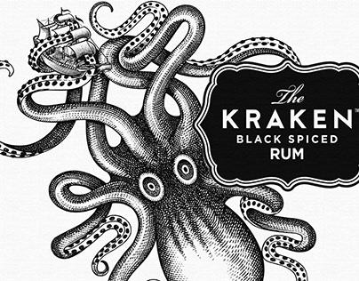 Kraken Rum Illustration by Steven Noble
