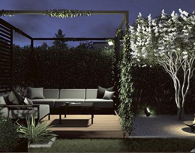 Projekt małego ogrodu, Gdynia Wzgórze Bernadowo