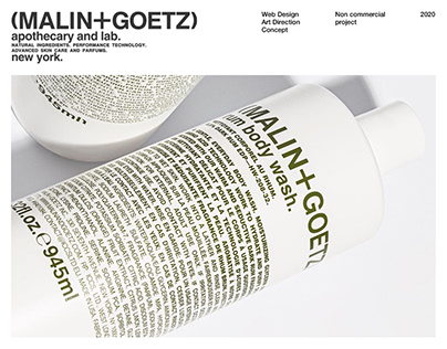 (MALIN+GOETZ) - Website redesign concept