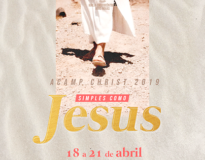 Cartaz Acamp Christ 2019 - Simples como Jesus
