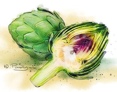 Vegetarian illustrations packaging
