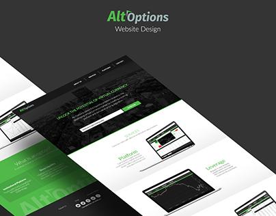 Alt-Options Website Design