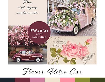 Floral Retro Car moodboard FW20/21