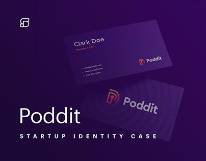 Poddit - branding for podcast platform