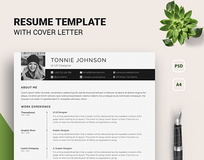Freebie Resume/Cv Set with cover letter