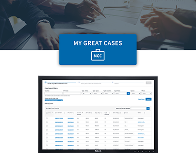 My Great Cases - Case Management System UX