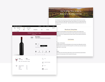Design of product detail page for Wine Access.