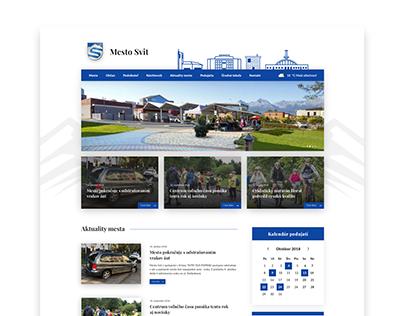 Concept redesign of a city website | MESTO SVIT