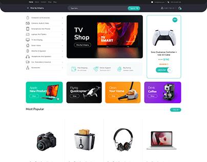 Electronic shop WordPress website
