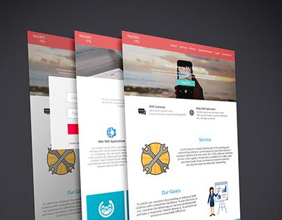 Sms City - Web Design Concept