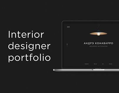 Website Andre Conavarro designer interior