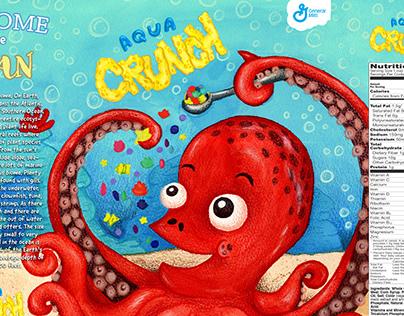 """Aqua CRUNCH"" Cereal - Packaging Design"