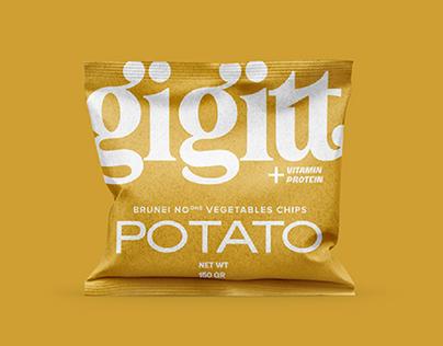 GIGITT Vegetable chips, Packaging Design
