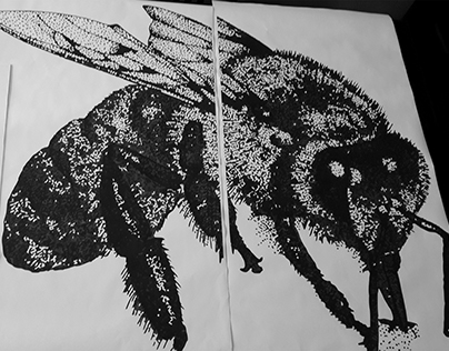 Wheatpaste Bee Project