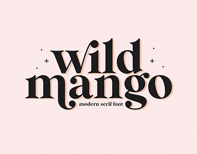 Wild Mango | Modern Serif Font
