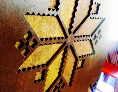 UMK Library - Wood Carving End Panel