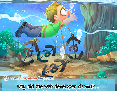 HTML Anchors - Weekly Web-comic for Developers