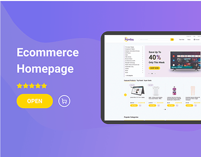 Ecommerce homepage design for Himba