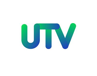 UTV - broadcast logo design