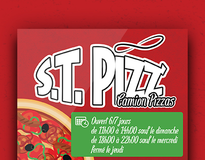S.T. PIZZ' Flyer