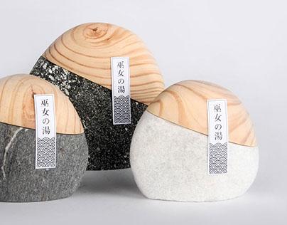 巫女の湯 - Bath Powder Packaging Design