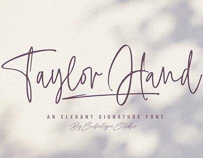 Taylor Hand - Signature Font