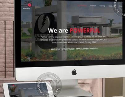 PDI Project Management Website | UX/UI Hi-Fi Prototype