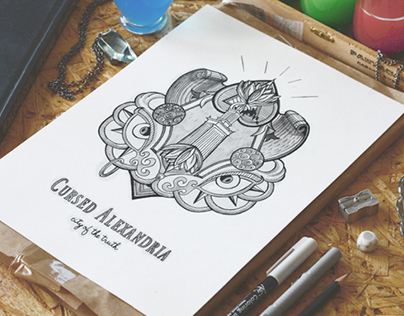 Cursed Alexandria / Chica de Cuba / various logos