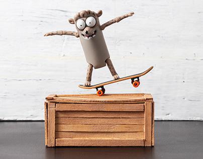 Rigby - Skater - Stopmotion