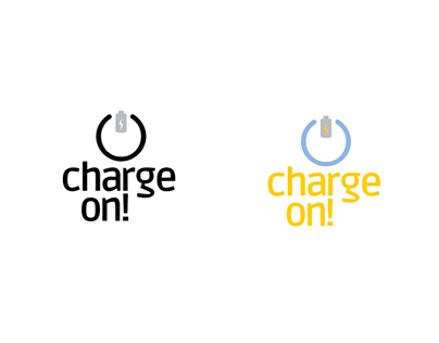 Charge On! logo design (Hypothetical Product)
