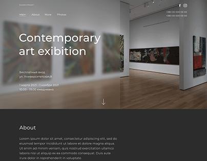 Contemporary art exibition Landing Page