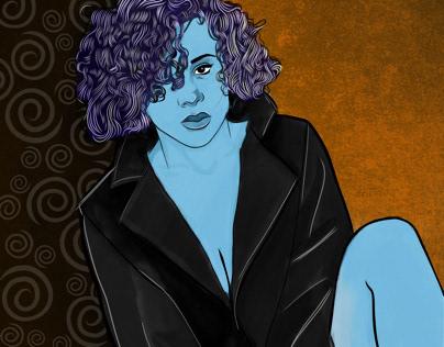 Blue girl 19