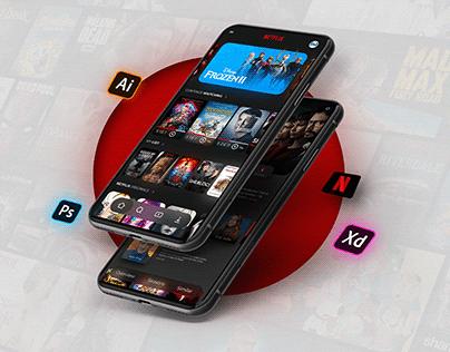 Netflix app   UI REDESIGN   Freebie