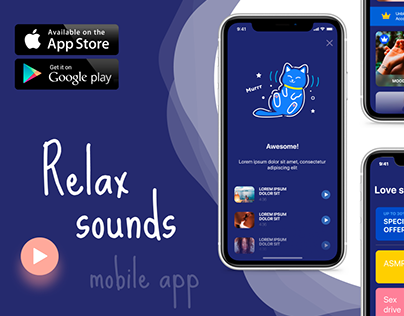 Relax sounds mobile app