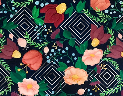Floral Hypnosis Pattern
