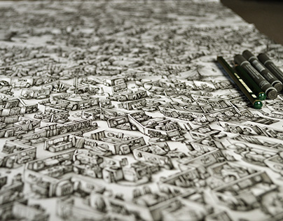 Ink Maze illustrations for Saatchi & Saatchi
