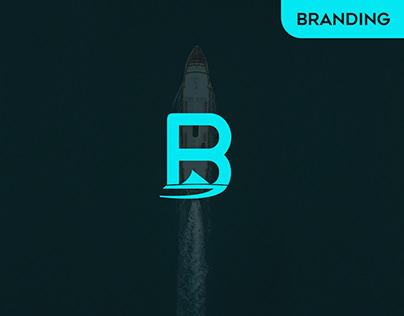 B logo design - Boat logo design - B letter logo