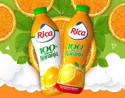100% Puro de Naranja Campaña Rica Comunidad