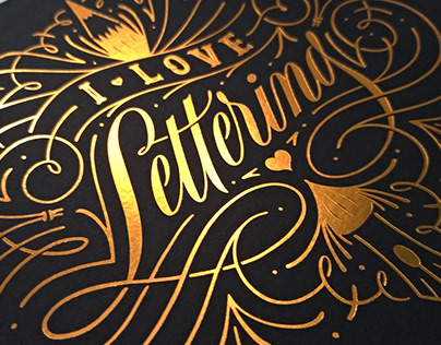 I Love Lettering - Limited Edition Print