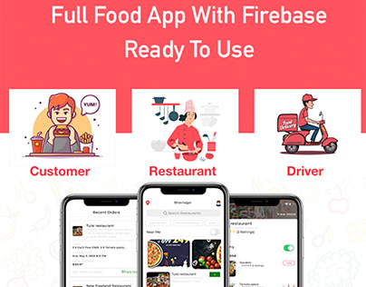 5 food delivery full (Android + iOS + Admin Panel PWA)