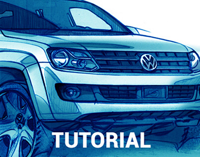 Tutorial sketch car step by step from photo