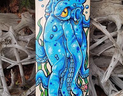 Custom Octopus Skateboard